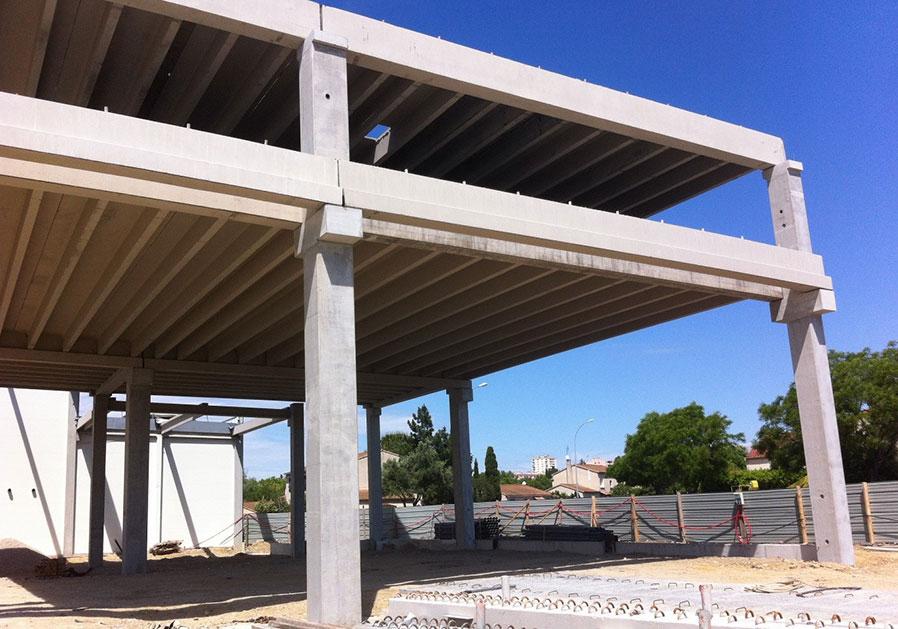 Eurobeton produit plancher béton poteau plandal